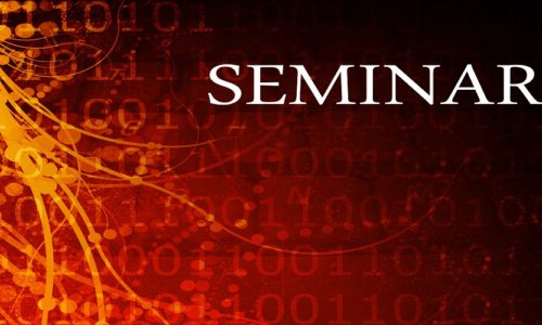 Seminar Abstract Background in Red and Black